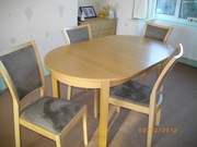 Extending dining table and 4/5 chairs
